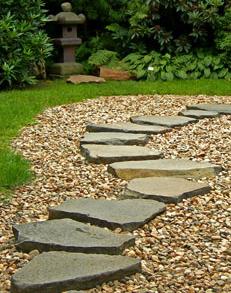 Stepping Stone Garden Paths Using Fieldstone