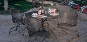 Woodard Patio Set of Table and Four Chairs